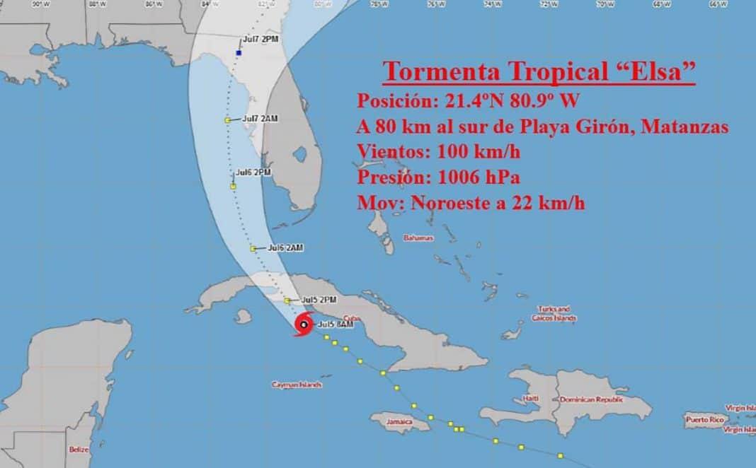 tormenta tropical Elsa tocará tierra en Cuba