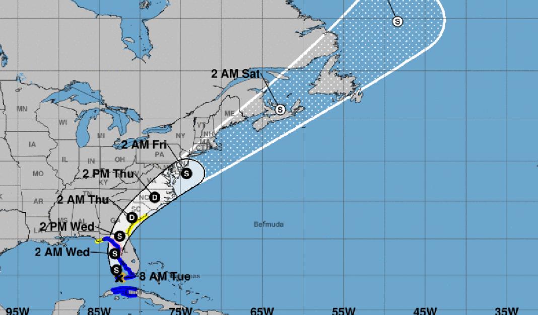 tormenta tropical Elsa rumbo a Florida