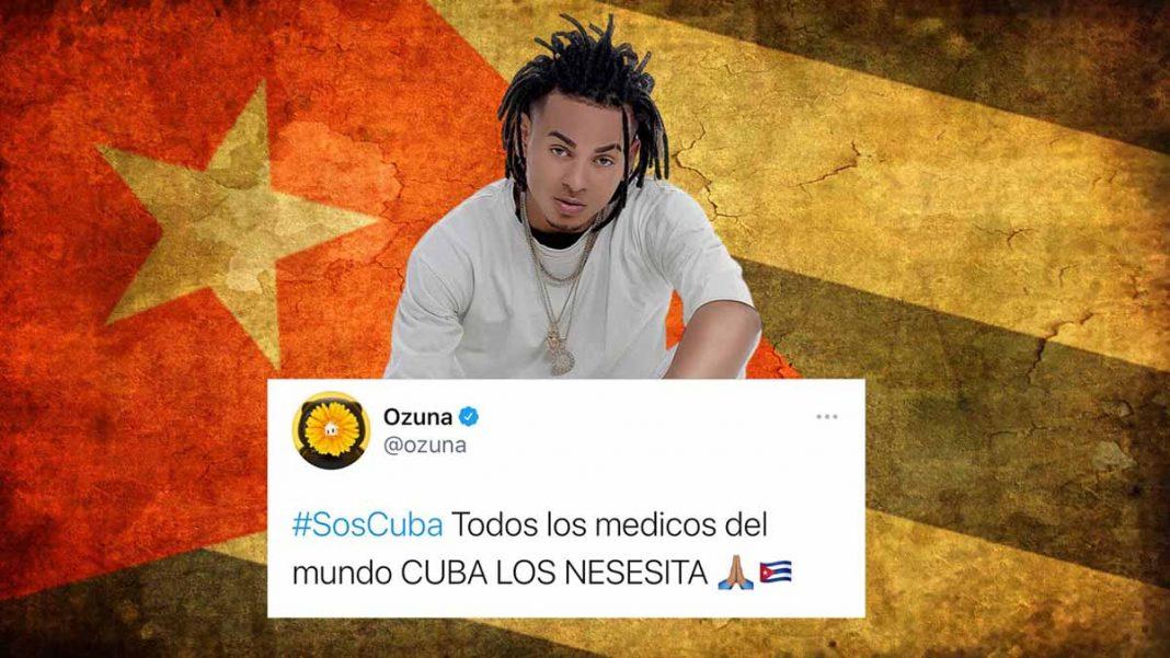 Ozuna difunde hashtag SOSCUBA