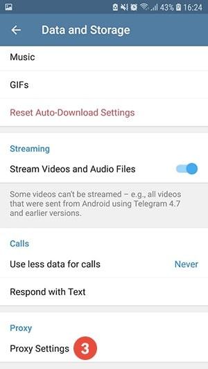 Configuración del Proxy Settings de Telegram para ubicar dentro una VPN