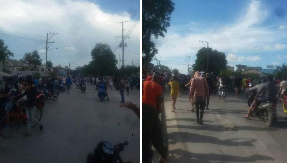 jovenes protestan en Holguín, Cuba