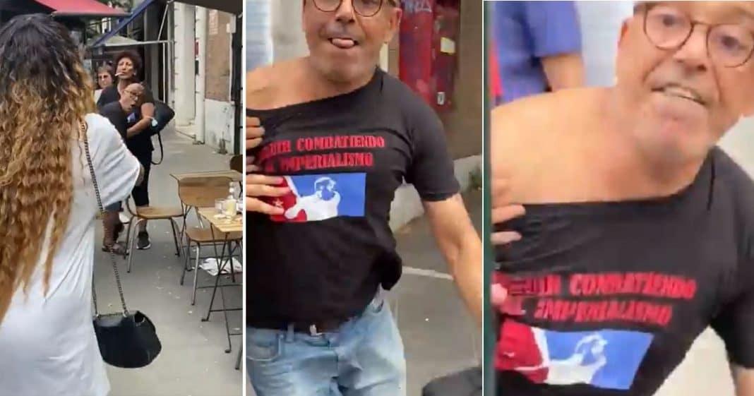 Italiano comunista agrade a cubana en Roma