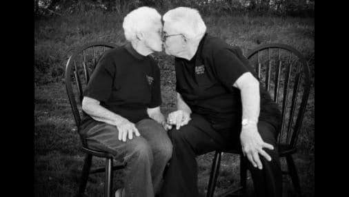 El amor de esta pareja que estuvo casada 73 años duró hasta la muerte