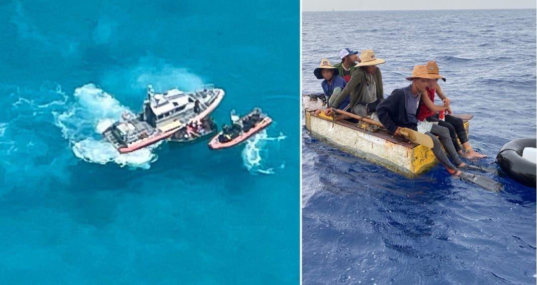 Guardacostas interceptan balseros cubanos