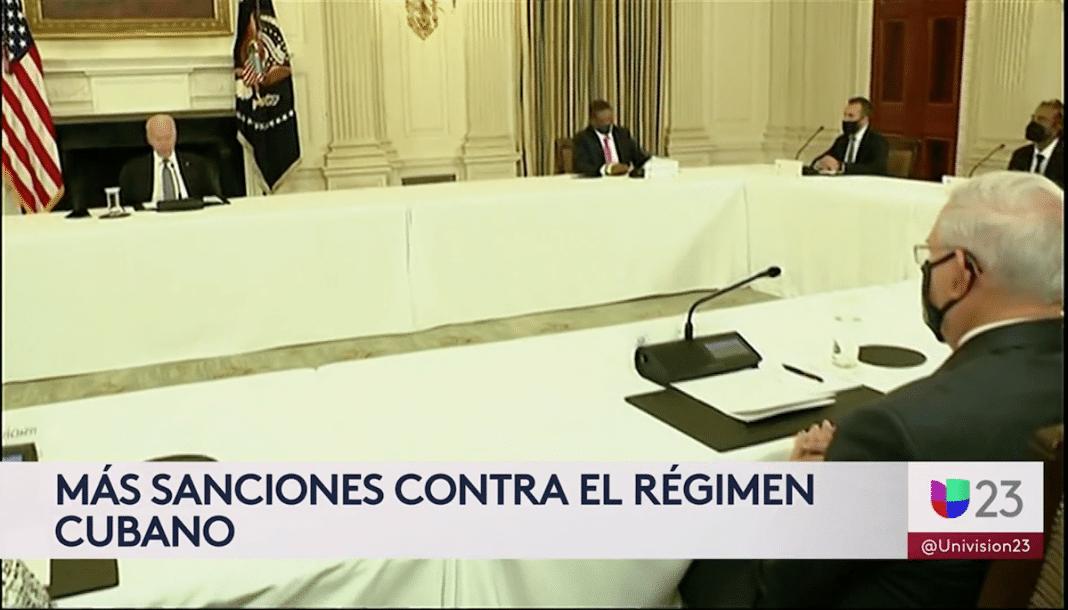 Activistas cubanos en la Casa Blanca