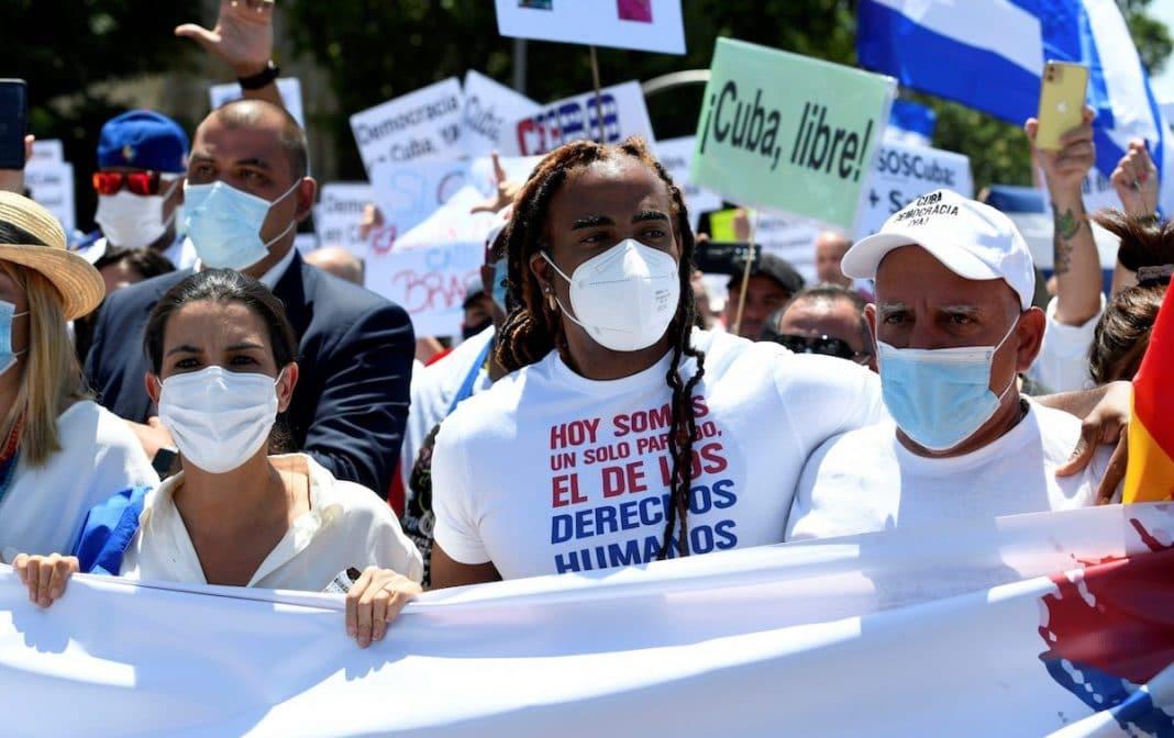 Yotuel Romero en la marcha de Madrid