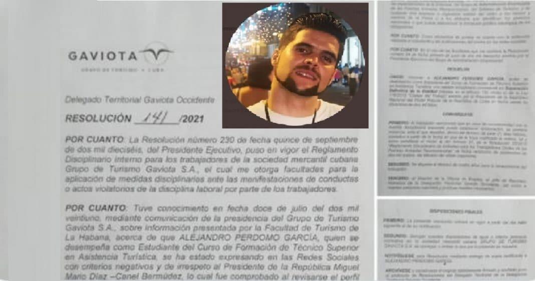 Cubano critica a Diaz-Canel y termina siendo expulsado de su trabajo