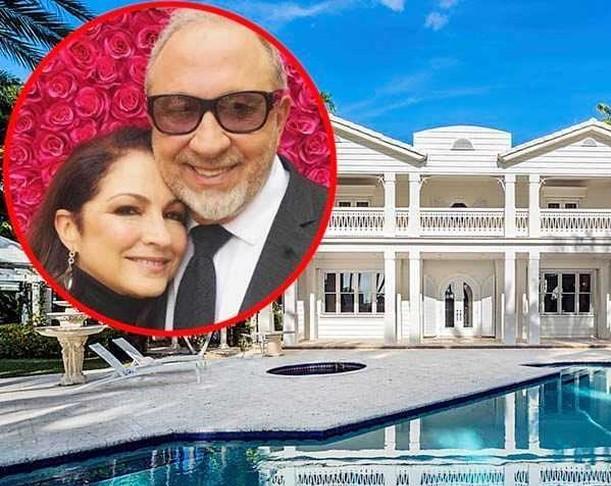 Gloria y Emilio Estefan mansión Star Island