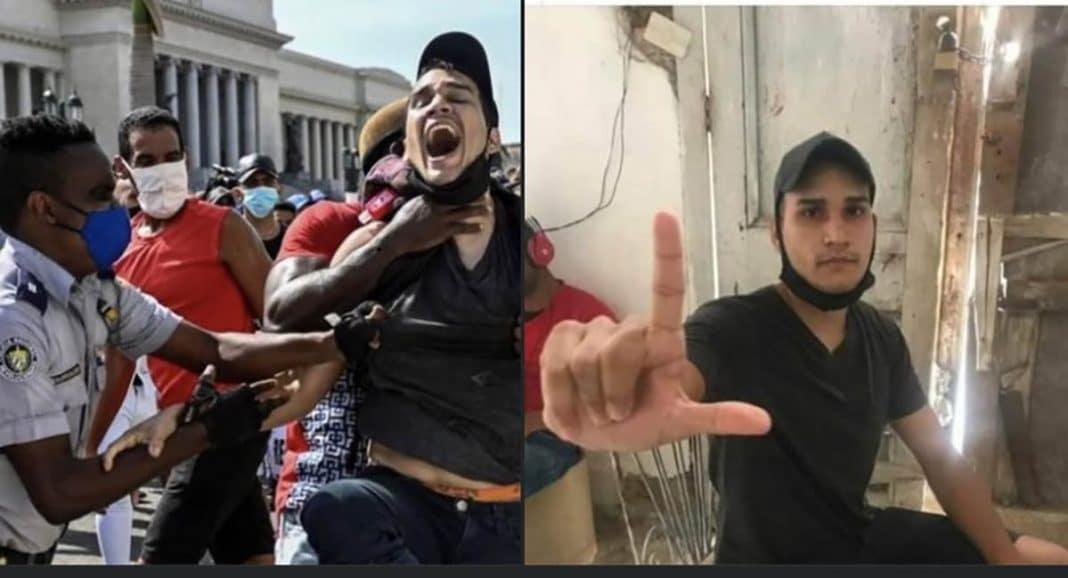 cubano de foto viral por las protestas del 11J