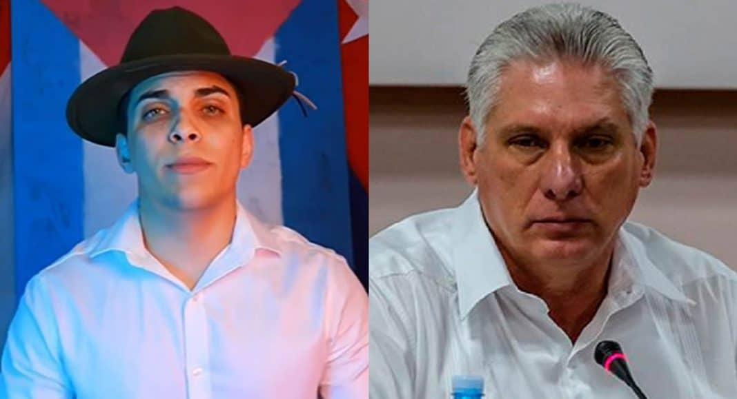 joven cubano dedica versos a Díaz-Canel