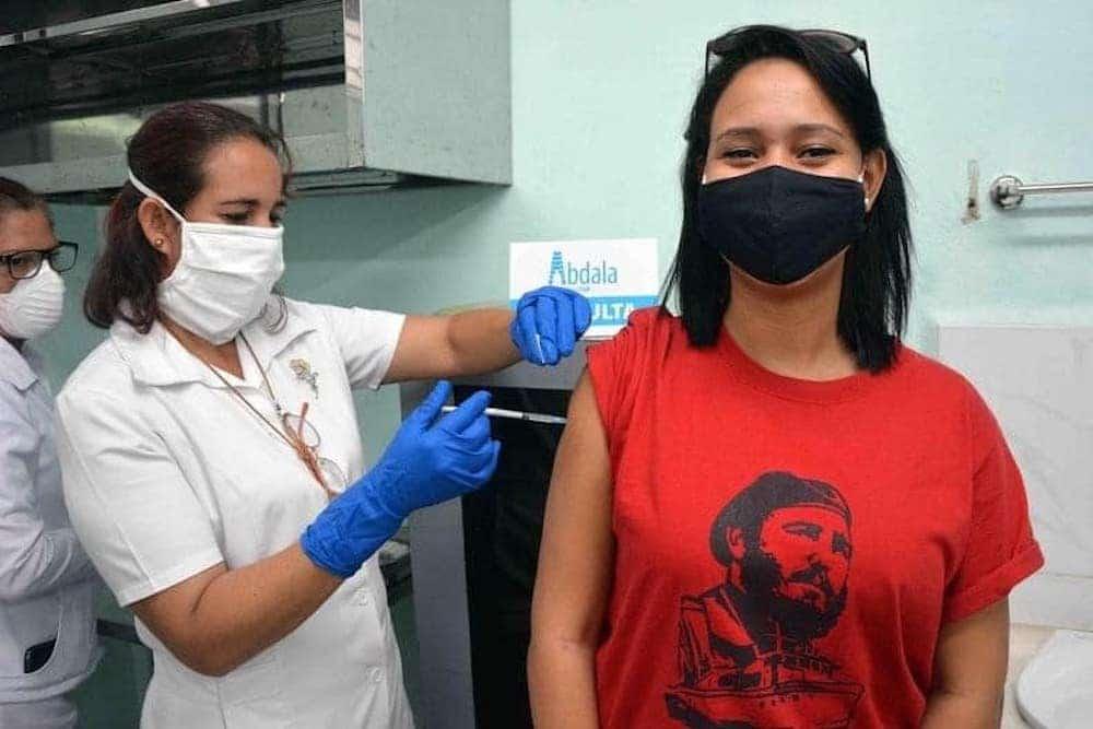 Vacunación con Abdala, uno de los candidatos vacunales