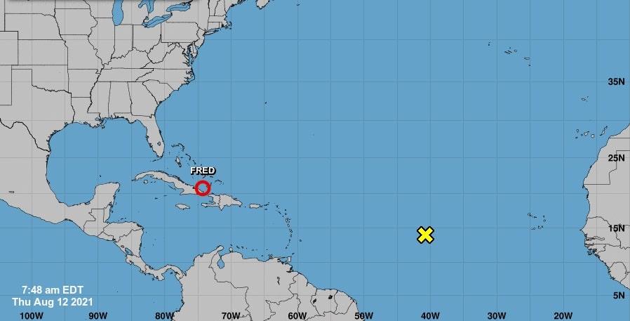 Tormenta Tropical Fred se degrada al salir de Haití