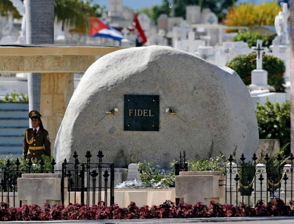 piedra con nombre de Fidel