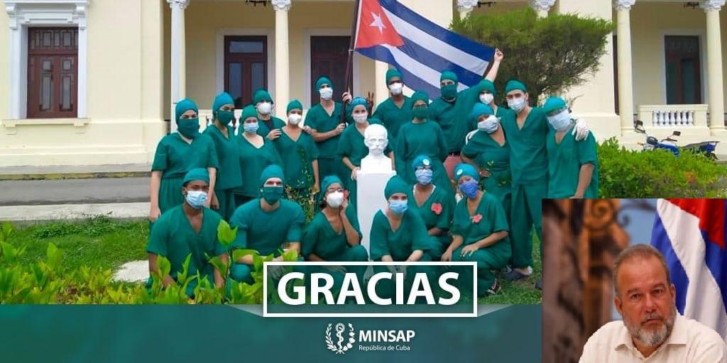MINSAP agradece a médicos cubanos. Manuel Marrero los culpa