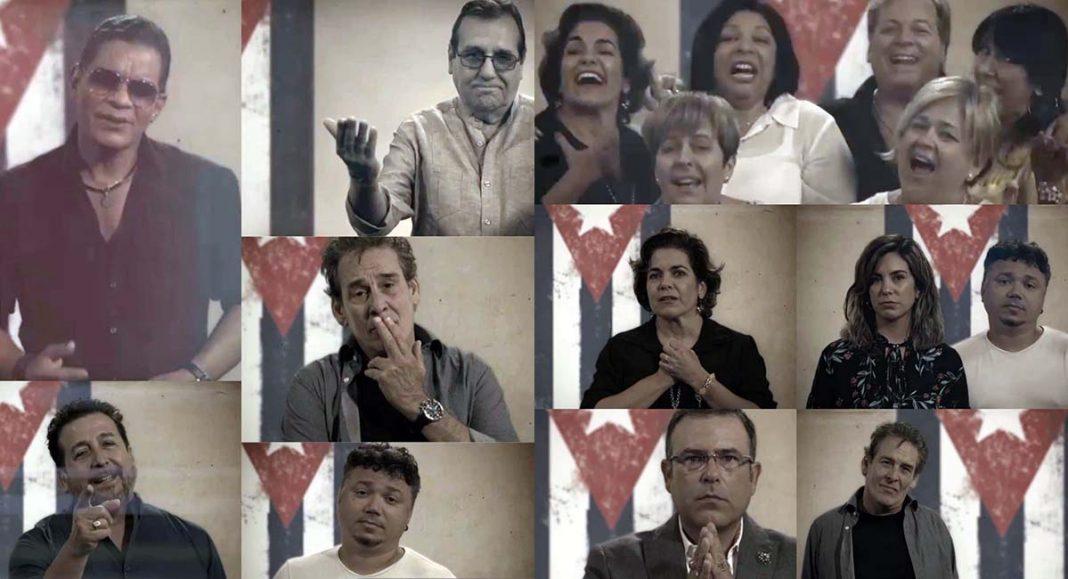 famosos cubanos en Miami cantan a la isla