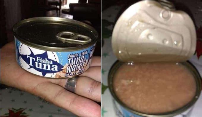Una lata de atún, en sustitución del pescado