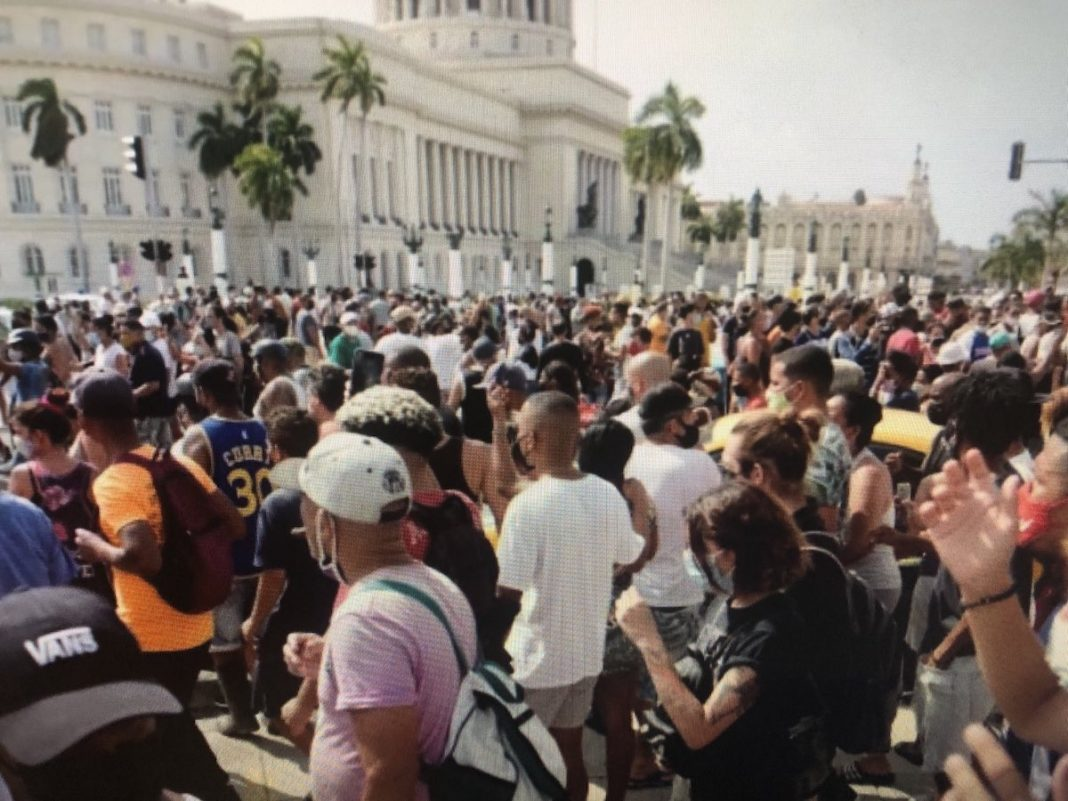 Seguridad del Estado reprimen protestas del 11J