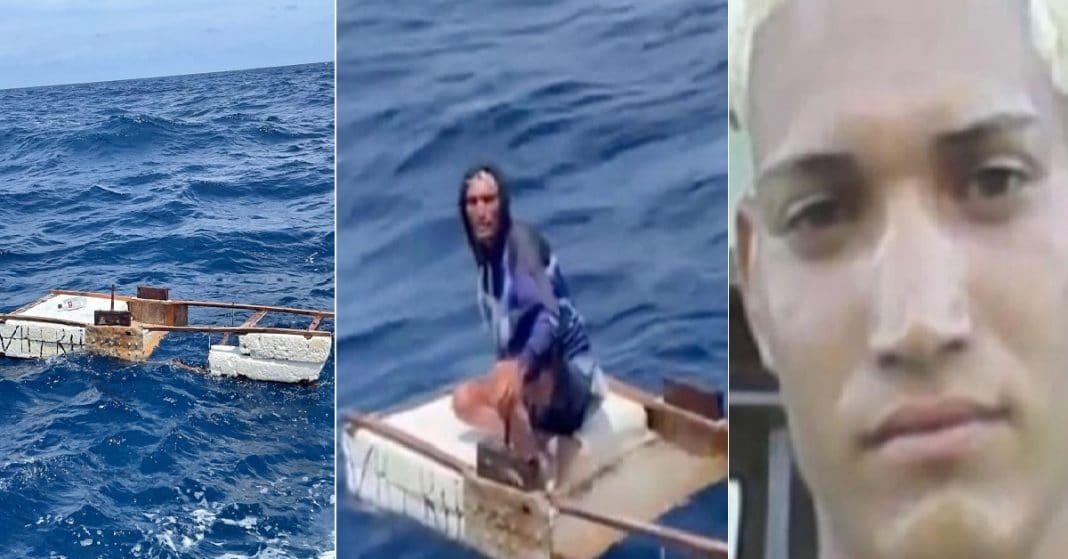 Balsero cubano Julio Cesar Capote. Diez días a la deriva en alta mar