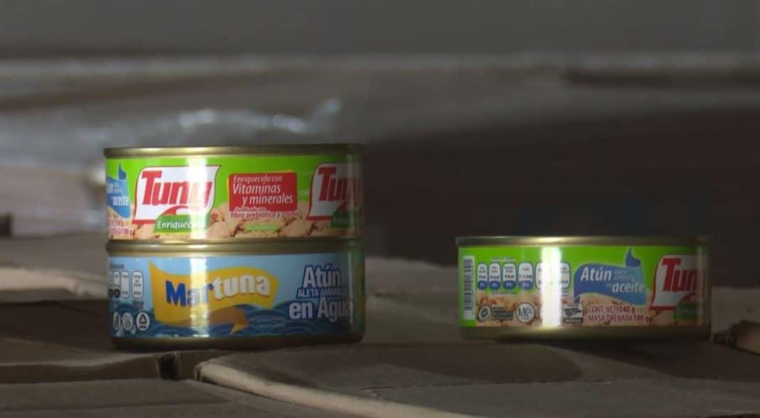Una lata de atún en agua llegada como donación a Cuba