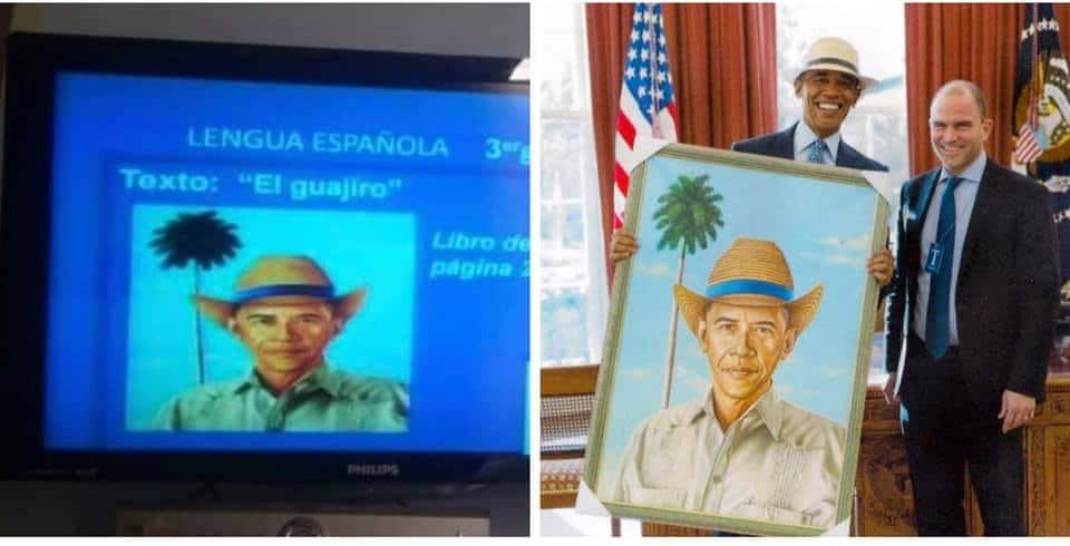 Barack Obama es mostrado en la TV de Cuba como guajiro