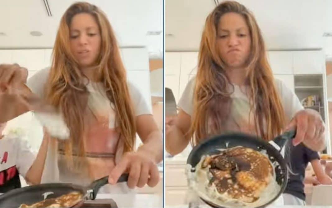 Shakira cocina pancakes