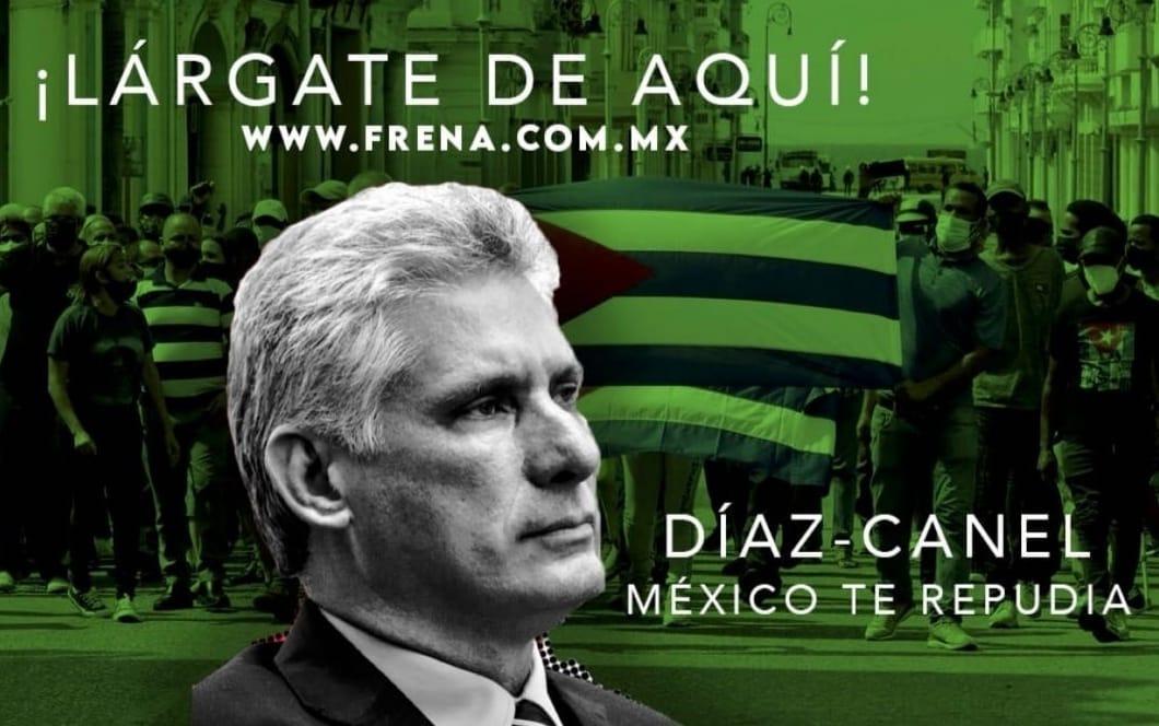 Cuestionan visita de Díaz-Canel a México
