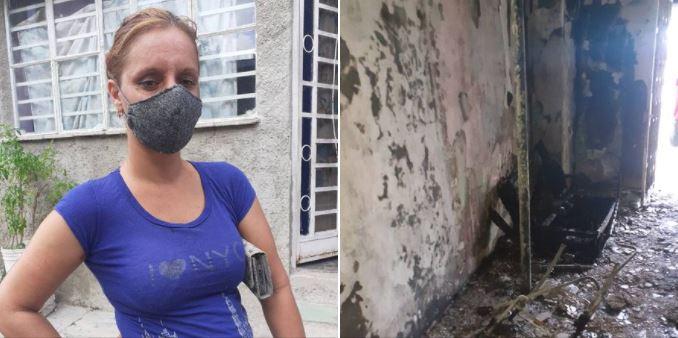Incendio en Regla, La Habana, deja a familia desprotegida