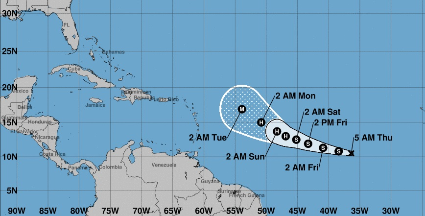 Se intensifica el futuro huracán Sam, pero hay buenas noticias para Cuba