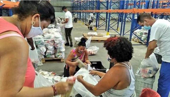 Alimentos llegados a Cuba como donación, tras el 11 de julio