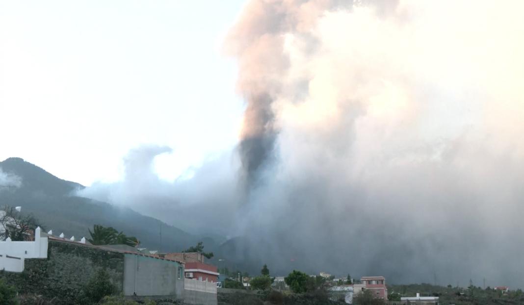 Erupción del volcán Cumbre Vieja, de Canarias
