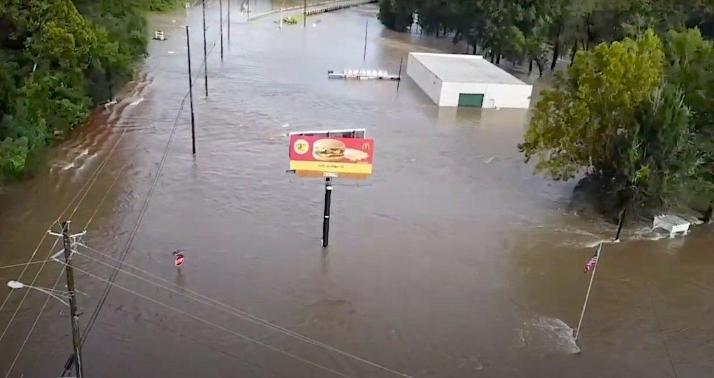 Severas inundaciones en zonas de Alabama