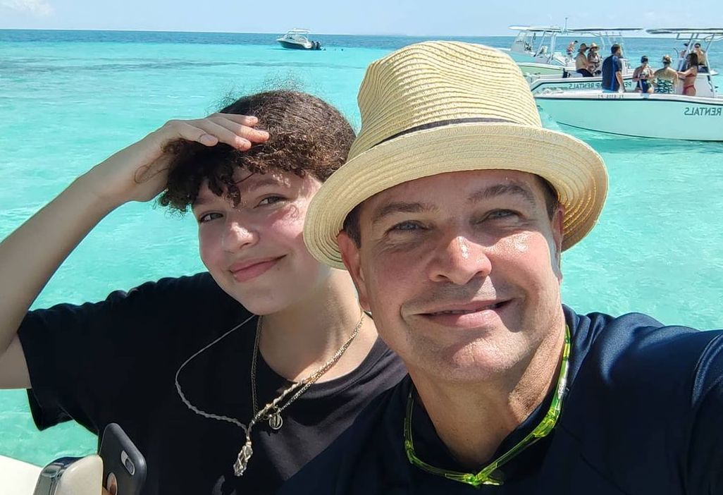 Orlando Fundichely y su hija